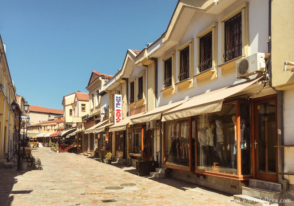 Old Bazaar street in Skopje, Macedonia.